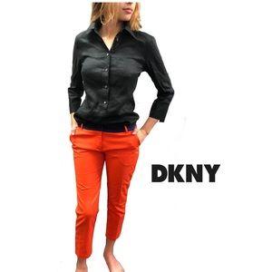 DKNY Orange Ankle Pants Size 8